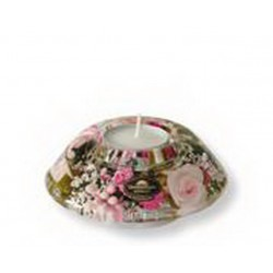 Bougeoir/chauffe-Plat 11 Cm Little Rose