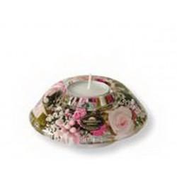 Bougeoir/chauffe-Plat 11 Cm Little Rose