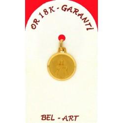 Medaille Or 18 Crts E. J. Prague 13 Mm