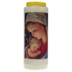 Neuvaine / Blanc / Vierge et Enfant