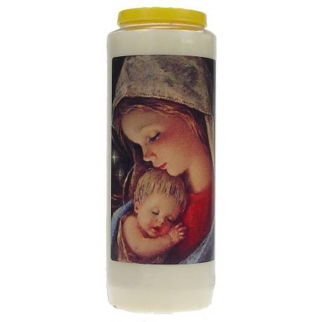 Neuvaine Blanc Vierge et Enfant