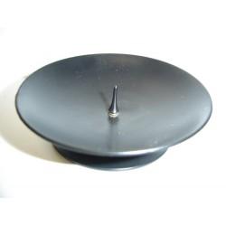 Kaarsenhouder - Metaal Zwart - 8 cm