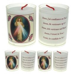 Set de 4 Bougies Christ Mis ricordieux TEXTE 5 LANGUES
