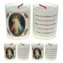 Set de 4 Bougies Christ Mis ricordieux TEXTE 5 LANGUES