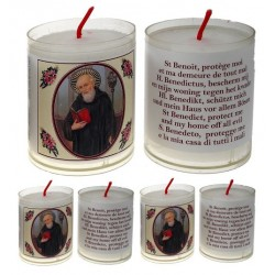 Set met 4 Kaarsen H Benedictus - Tekst 5 Talen