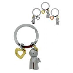 Porte-Clefs Ange Gardien + Coeur 7 Cm