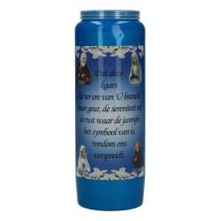 Luminaire 9 Jours / Bleu / Parfum De Jasmin -Calme Neerlandais