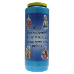 Kaars 9 Dagen / Blauw / Zwangerschap ... Frans