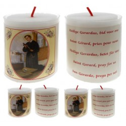 Set De 4 Bougies St Gerard Texte 5 Langues