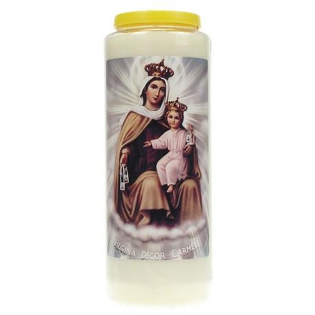 Neuvaine / Blanc / Buste Vierge du Carmel