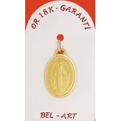 Medaille - Goud 18 Krt - Wonderbare - 19 mm