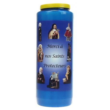 Noveenkaars / Blauw / Merci à nos Saints Protecteurs