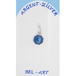 Medaille Zilver - O.L.V. - Email Blauw