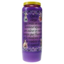 Kaars 9 Dagen / Violet / Violetgeur-Humiliteid Frans