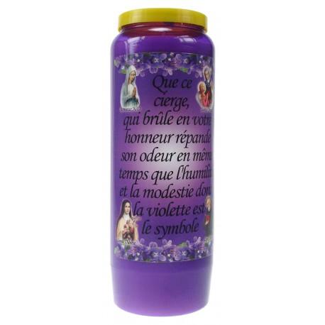 Luminaire 9 Jours / Violet / Parfumé à la violette - Humilité et modestie