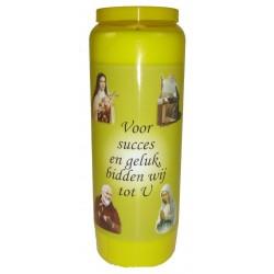 Kaars 9 Dagen / Geel / Succes En Geluk