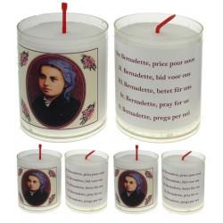 Set De 4 Bougies Ste Bernadette - Texte 5 Langues