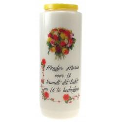 Noveenkaars / Wit / Moeder Maria voor U ...