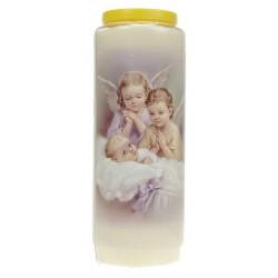 Neuvaine / Blanc / Deux Anges + Enfant