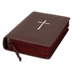 Lederen Kaft    Bible Jerusalem + Prieres Temps Present Groen   Bord.