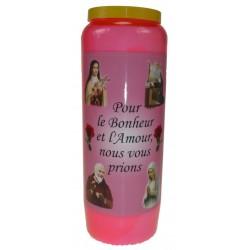 Kaars 9 Dagen / Roos / Bonheur Et Amour
