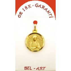 Medaille Goud 18 Krt Banneux 16 Mm