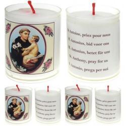 Set De 4 Bougies St Antoine - Texte 5 Langues