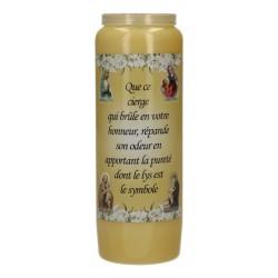 Luminaire         9 Jours / Jaune / Parfum De Lys  - Pureté