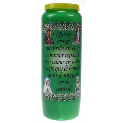 Luminaire 9 Jours / Vert / Parfumé au muguet - Bonheur