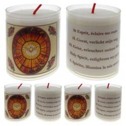 Set De 4 Bougies St Esprit Texte 5 Langues