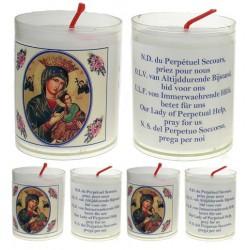 Set De 4 Bougies Perpetuel Secours Texte 5 Langues