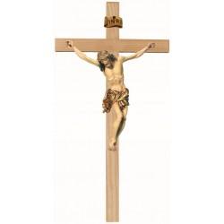 Bois Sculpté Croix + Christ 20 Cm Couleur