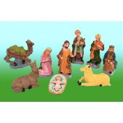 Kerstgroep 8 cm - 10 Figuren