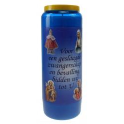 Kaars 9 Dagen / Blauw / Zwangerschap ... Nederlands