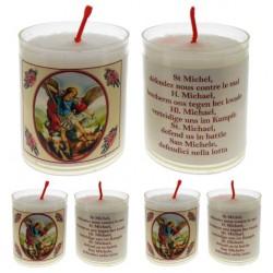 Set De 4 Bougies St Michel - Texte 5 Langues