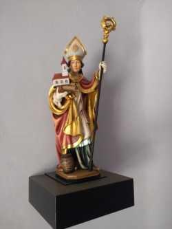 Saint Willibordus en bois sculpté